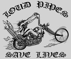 loud pipes save lives cartoon biker