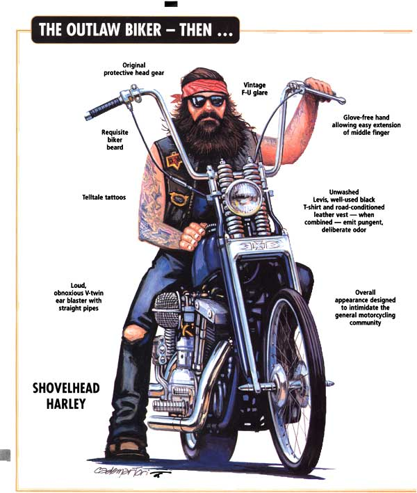 outlaw biker cartoon