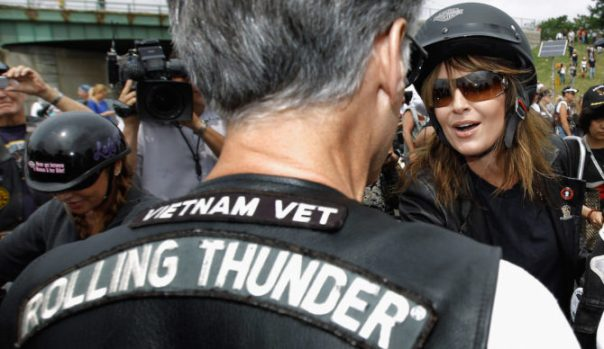 Sarah Palin Joins Rolling Thunder Rally In Washington DC