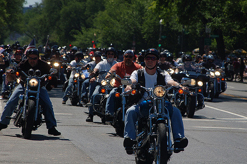 BIKERS IN RALLY