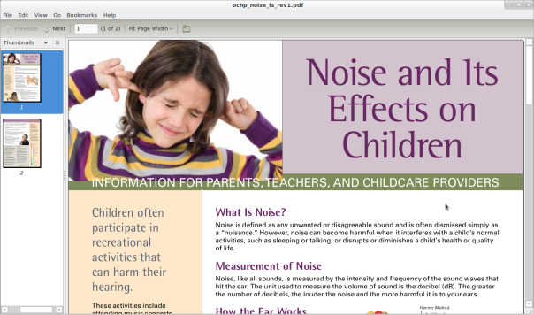 noise effects on children
