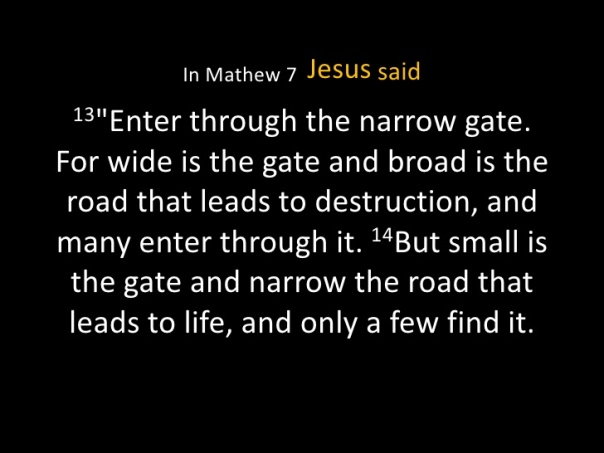 Jesus - Enter through the narrow gate