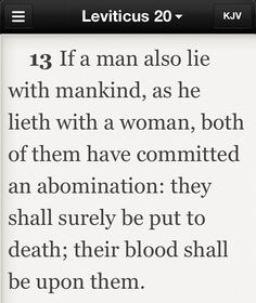 Jesus - homosexuality - mankind is not to lay with mankind as with a woman