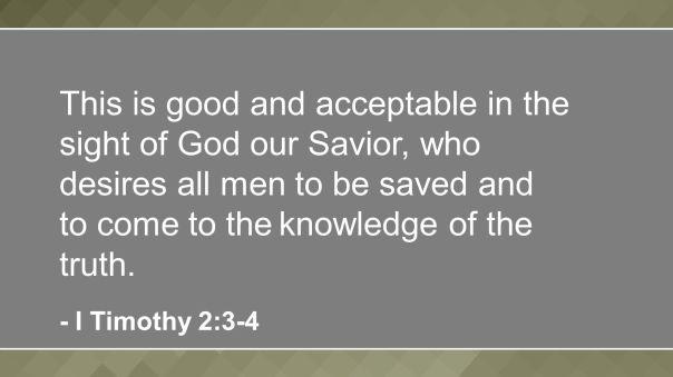 jesus - all men be saved