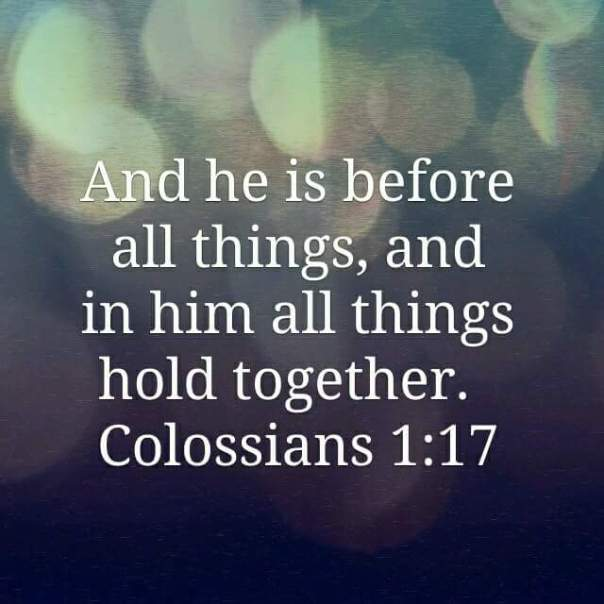 Jesus - all things hold together