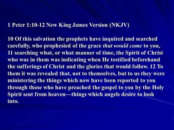 Jesus - angels desire to look into