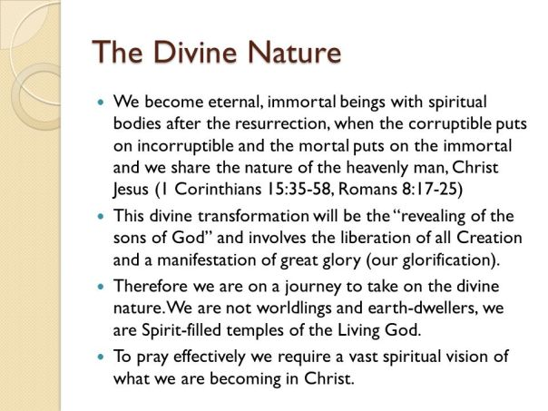 Jesus - divine nature heavenly body