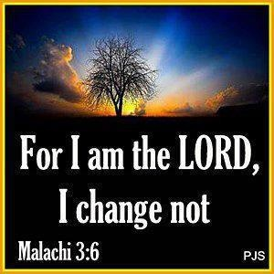 Jesus - I change not