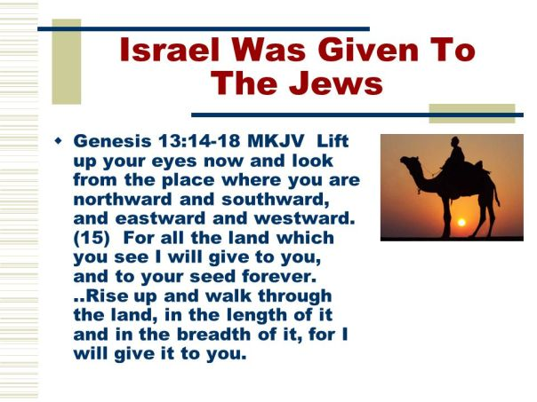 Jesus - Israel given to abraham
