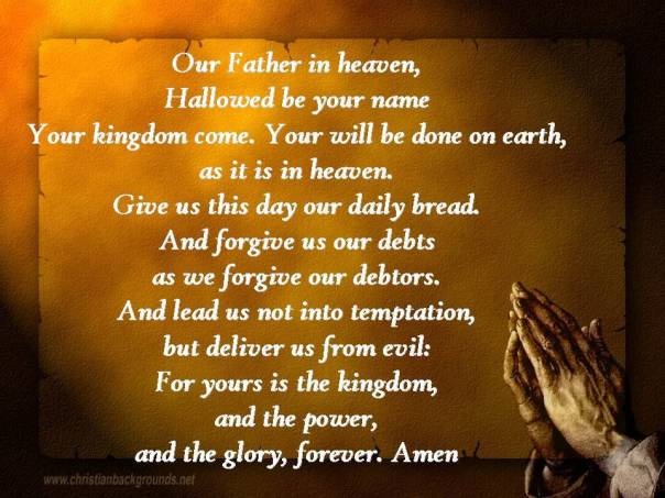 Jesus - lords prayer