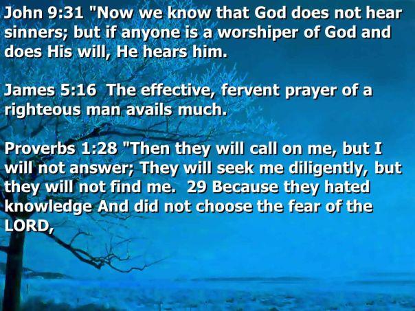 Jesus - prayers of the wicked