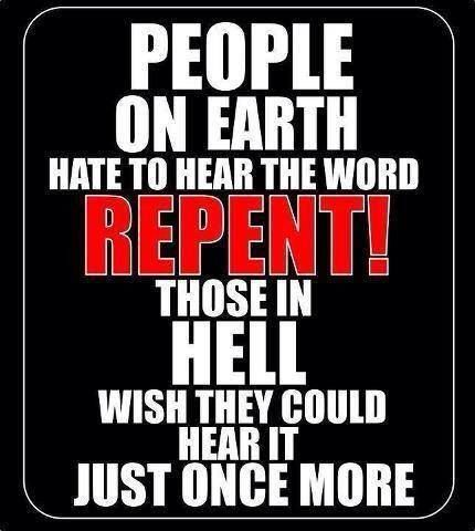 Jesus - repent all people of the earth