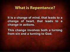 jesus - repetence defined