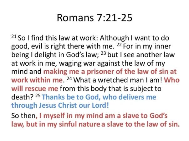 Jesus - Romans 7 21-25