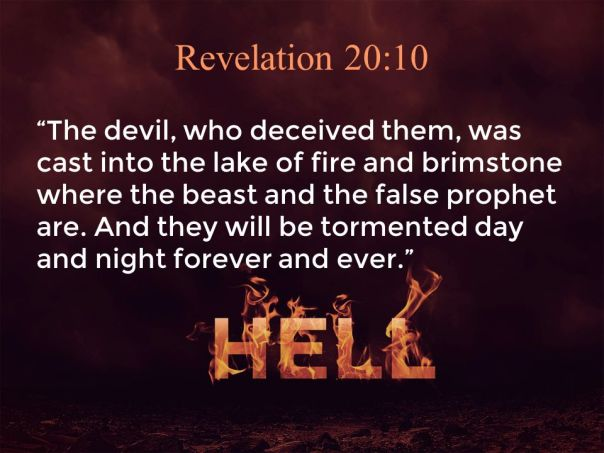 Jesus - satan cast into Hell