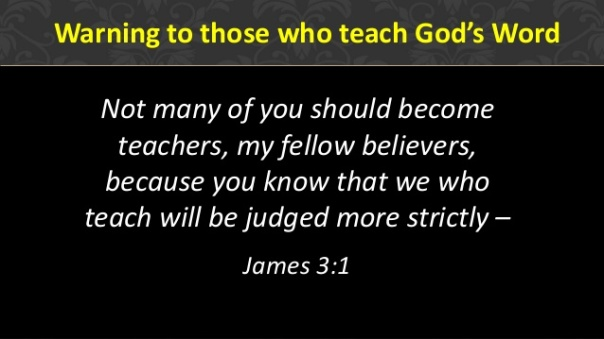 Jesus - warning to teachers of word