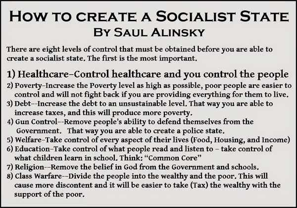 democrat - saul alinsky creating a socialist state by the numbers