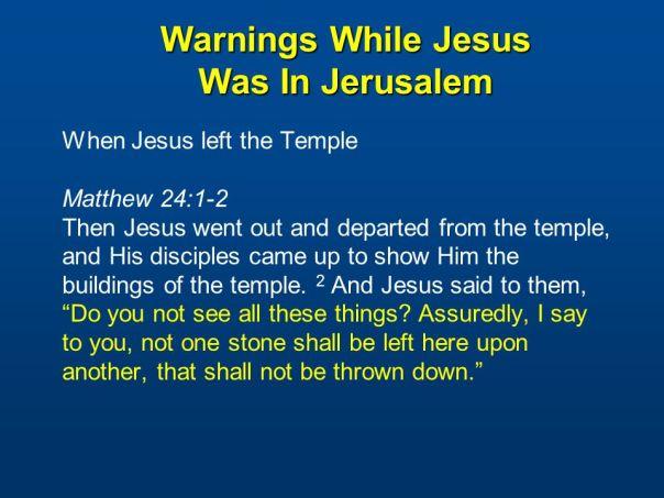 jesus - destruction of jerusalem prophecy