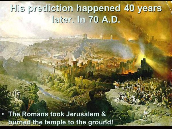 jesus - jerusalem destroyed in 70ad