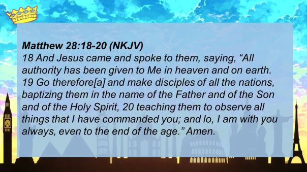 jesus - baptism go and make disciples of all nations baptizing them in the name of the