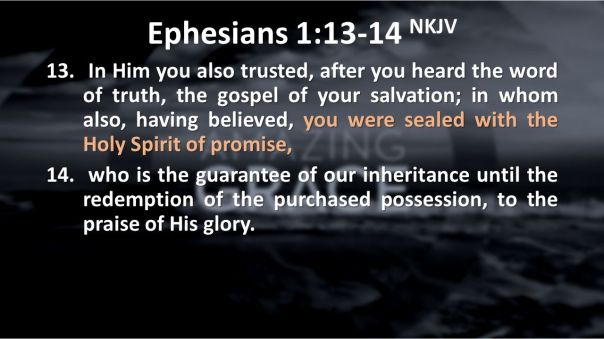 Jesus - holy spirit received the holy spirit of promise after confession trusting in jesus