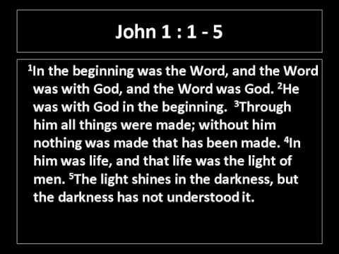 Jesus - In the beginning was the Word John 1
