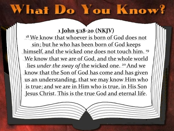 jesus - we know we are children of god