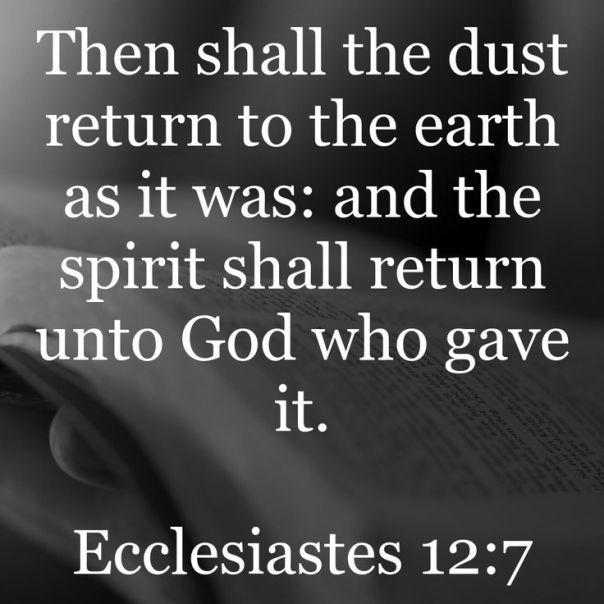 Jesus - spirit returns to god who gave it