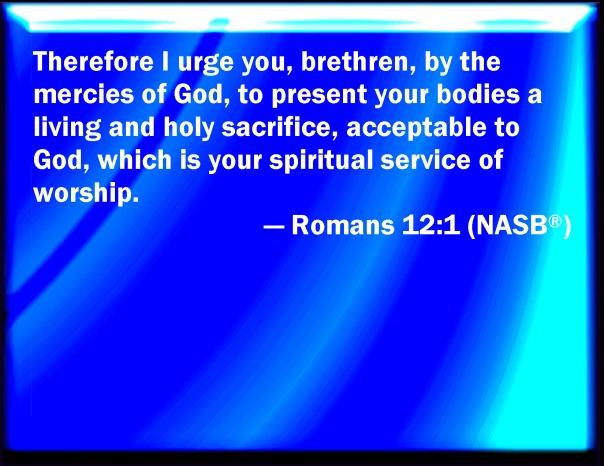 jesus - present your bodies a living sacrifice romans 12 1 large nasb