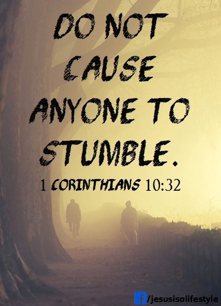 jesus - do not cause anyone to stumble