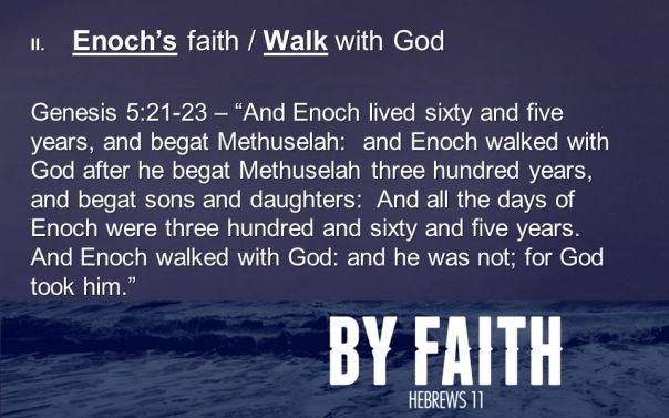 Jesus - enoch walked with God