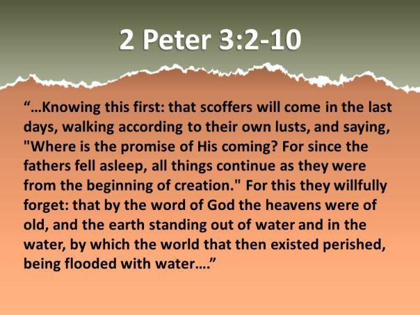 jesus - scoffers in the last days