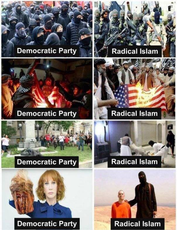 democrat - democratic party compared to radical Islam