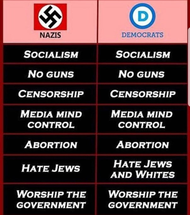 democrat - nazis and democrats comparison