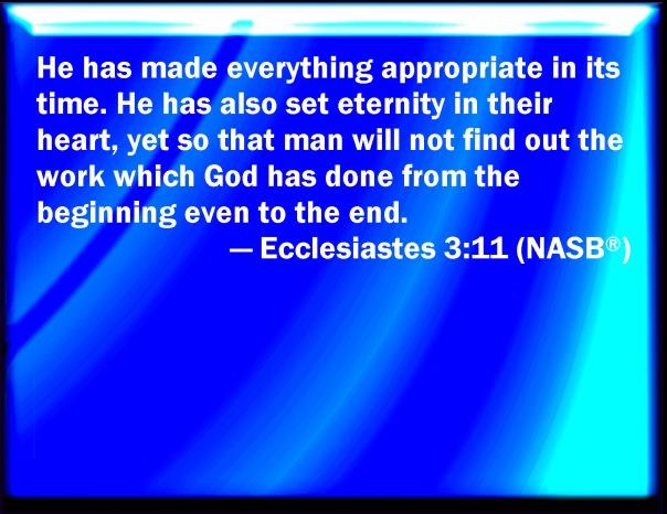 jesus - eternity in our heart
