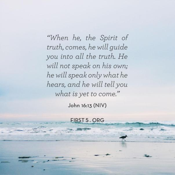 jesus - holy spirit will guide you in truth