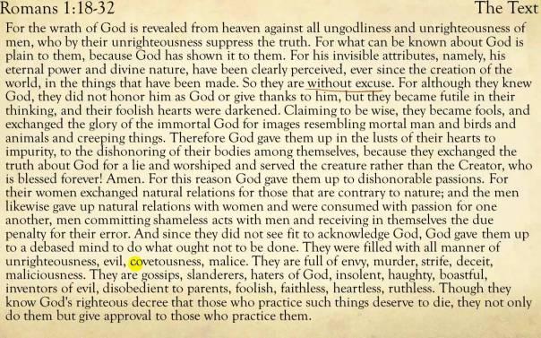 Jesus - Romans 1 18-32
