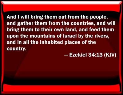 Jesus - Ezekiel regathering