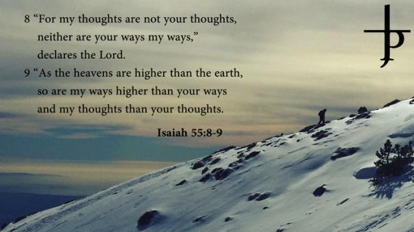 Jesus - my ways are not your ways