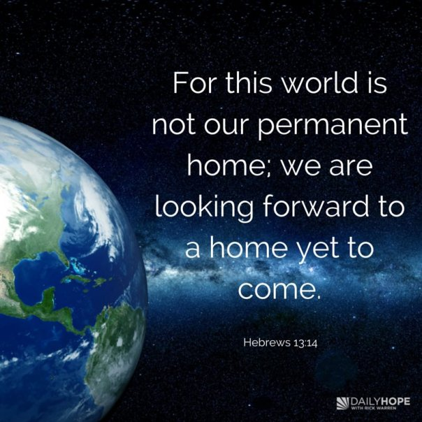 jesus - this world is not our home