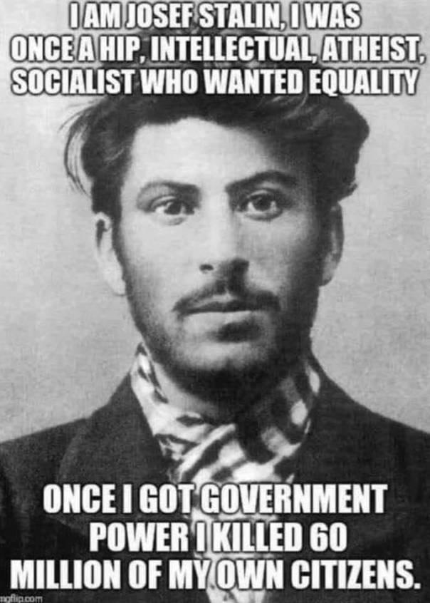 atheism - joseph stalin a hip atheist killed 60 million of his citizens