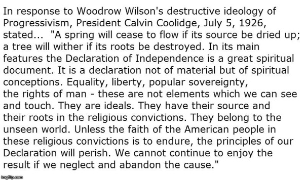 christian nation - Calvin Coolidge 1 void credits
