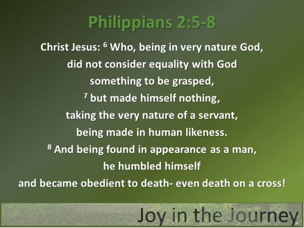 jesus - being fashioned as a man made himself nothiing