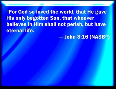 Jesus - john 3 16 nasb