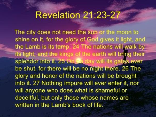 jesus - nothing impure will enter the kingdom of god