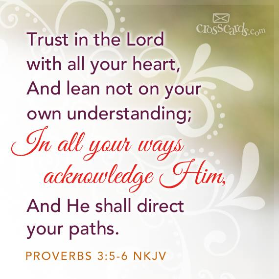 Jesus - trust in the lord with all your heart