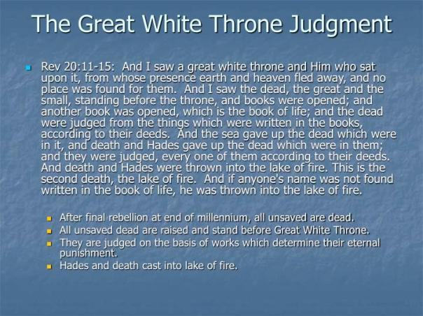 jesus - great white throne judgment without pictures