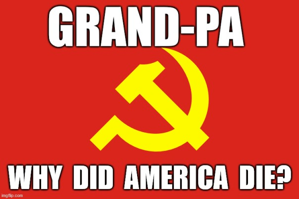 communist flag why did america die