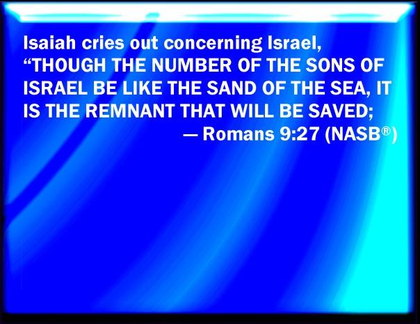 jesus - jew a remenant saved